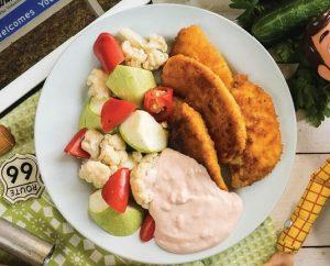Партия еды куриные нагетсы