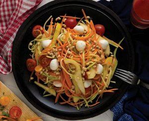 Партия еды овощная паста